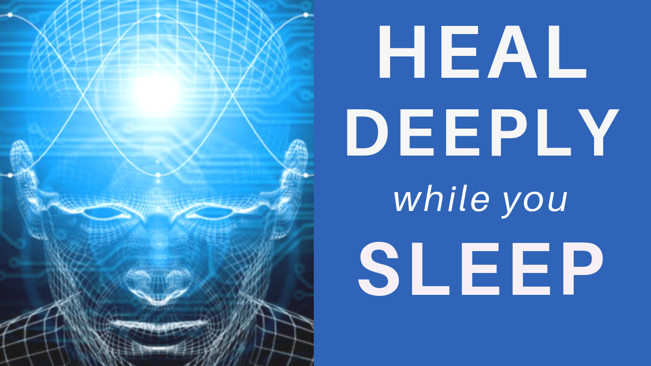 HEAL while you SLEEP ★ Deep Mind & Body Healing Meditation (Feel at Peace)